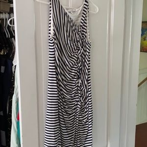 Lucy and Laurel, navy and white stripped dress